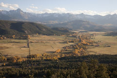 Valley view of San Juan Mountains Stock Photos