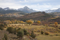 Valley view of San Juan Mountains Royalty Free Stock Images