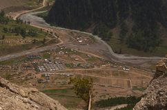 Valley view in Sonamarg-2 Royalty Free Stock Images
