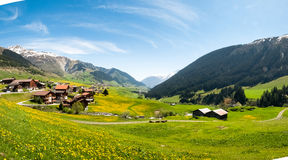 Valley View Surselva Stock Image