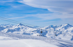 Valley view of Val Thorens Royalty Free Stock Photography