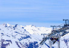 Valley view of Val Thorens Stock Photos