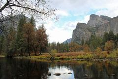 Valley View in Yosemite in Autumn stock photo
