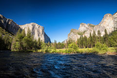 Valley View, Yosemite National Park, California royalty free stock photo