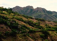 Valley of Vilcabamba with Mandango in the backdrop Royalty Free Stock Photo