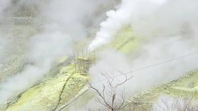Valley volcanic of Owakudani, Hakone, Japan. stock video footage