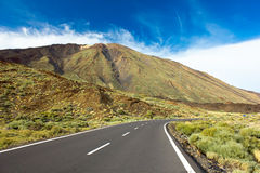 Valley of volcano Teide, Tenerife, Spain stock photography