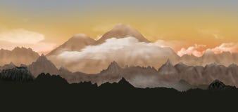 Valley of volcanoes Stock Photos