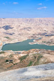 Valley of Wadi Al Mujib river and dam, Jordan - 3 Stock Image