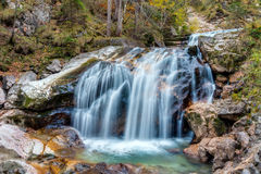 Valley with Watercourse and Waterfalls Royalty Free Stock Photo
