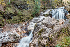 Valley with Watercourse and Waterfalls Stock Images