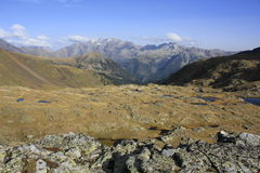 Valley in way to Urdiceto lake , Pyrenees Royalty Free Stock Image
