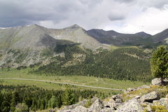 Valley in the Western Sayan mountains Stock Photo