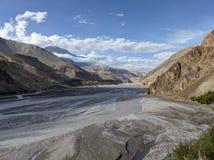 Valley of wild river Kali Gandaki Stock Image