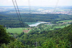 Valley with wire Royalty Free Stock Photo