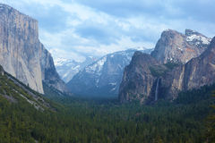 Valley of  Yosemite National Park. Stock Photos