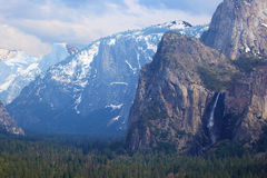 Valley of  Yosemite National Park. Stock Images