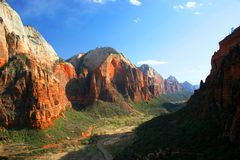 Valley of Zion. Sunset over Zion National Park Stock Photo