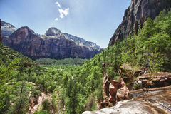 Valley in the Zion Canyon National Park, Utah Stock Images
