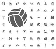 Valleyball ball icon. Sport illustration vector set icons. Set of 48 sport icons. Valleyball ball icon. Sport illustration vector set icons. Set of 48 sport Stock Images