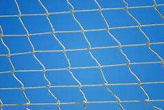 Valleyball Net. Strings over Blue Sky Background royalty free stock images