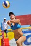 Valleyball Spielerfrau Lizenzfreie Stockfotos