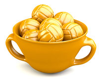Valleyballs in cup Royalty Free Stock Photos