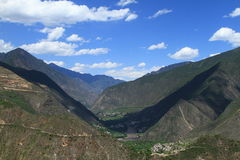 Valleys. And cloud in sichuan china Royalty Free Stock Photography