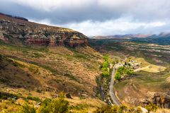 Valleys, canyons and rocky cliffs at the majestic Golden Gate Highlands National Park, dramatic landscape, travel destination in S. Outh Africa royalty free stock photography