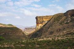 Valleys, canyons and rocky cliffs at the majestic Golden Gate Highlands National Park, major travel destination and tourist attrac Stock Photo