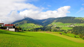 Valleys and hills in Austria Stock Photography