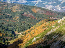 Valleys and hills in the Tatra mountains Royalty Free Stock Images