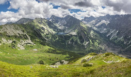 Valleys and peaks of summer Slovak High Tatras mountains Stock Images