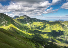 Valleys, ridges and peaks of summer Western Tatras mountains Royalty Free Stock Photos