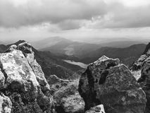 Valleys from Snowdon royalty free stock photography