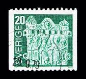 Vallfärda emblemet, Definitives serie 1976, circa 1976 Royaltyfri Foto