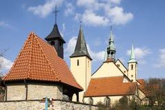 Vallfärda kyrkan i regel, det Osnabrueck landet, lägre Sachsen, Tyskland Royaltyfria Foton