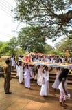 Vallfärdar i Anuradhapura, Sri Lanka Royaltyfria Bilder