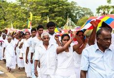 Vallfärdar i Anuradhapura, Sri Lanka Arkivbilder