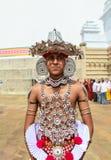 Vallfärdar i Anuradhapura, Sri Lanka Royaltyfria Foton
