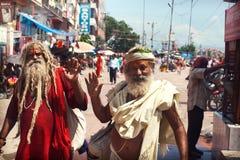 Vallfärdar i Haridwar arkivbild