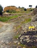 Vallfärdar i Mozarabicen Camino de Santiago, Cerro Muriano, landskap av Cordoba, Andalusia, Spanien Fotografering för Bildbyråer