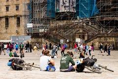 Vallfärdar i Santiago Royaltyfria Foton