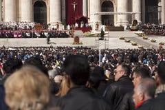 Vallfärdar på mass för påven Francis Arkivbilder
