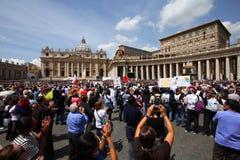 vallfärdar vatican Arkivbilder