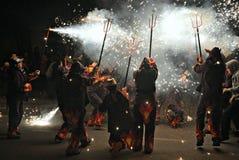 Vallgorguina-Barcelona fire Devils Stock Images