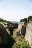 Vallgrav av fästningen Arkivfoto