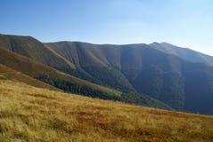 Valli della montagna in autunno Immagine Stock