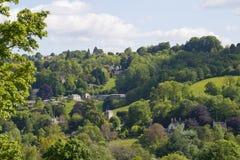 Valli di Stroud, Gloucestershire, Regno Unito fotografia stock