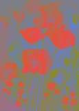 Vallmo i förenklade färger Arkivbilder